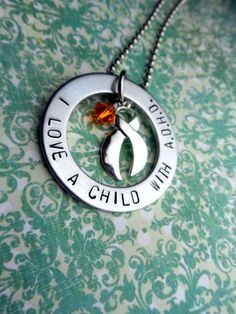A.D.H.D Awareness I Love A Child With ADHD by HandmadeLoveStories, $25.00