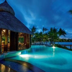 Luxury Le Touessrok, Mauritius features two pools - one is a large central feature to the hotel