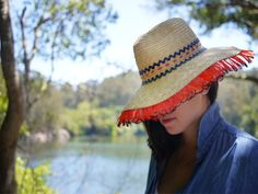 DIY straw hats. So cute & easy @ honestly wtf with lola hats