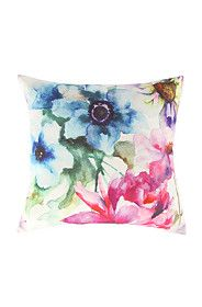 WATER COLOUR PANSY 45X45CM SCATTER CUSHION Home Goods Decor, Home Decor, Scatter Cushions, Pansies, Cushion Covers, New Homes, Tapestry, Watercolor, Cool Stuff