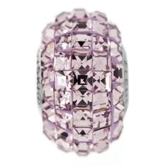 15mm Light Amethyst Swarovski Elements Crystal Square Rhinestone BeCharmed Pave Bead | Fusion Beads