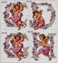 Professione Donna: Schemi per il punto croce: Alfabeto con gli angeli...