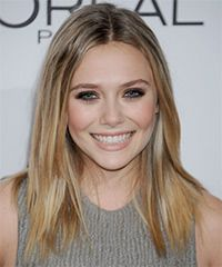 Elizabeth Olsen hair straight with jagged ends