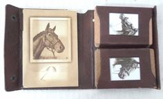 Vtg  Man O War Seabiscuit Whirlaway Playing Cards Leather Case Palenske Ky Derby www.hamptoncollect.com