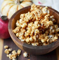 Maybe it's the college football parties, the trick-or-treating, or the endless grazing before Thanksgiving dinner, but snacks and fall just seem to go together. Popcorn is a very old harvest snack, prepared in the New World long before Columbus ever got here. This sweet popcorn may actually improve on the original while using yet one more New World food - the peanut.