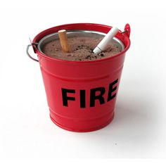 Fire Bucket Ashtray, $11, now featured on Fab.