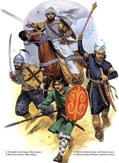 Angus McBride - Guerreros persas de los siglos X-XI.