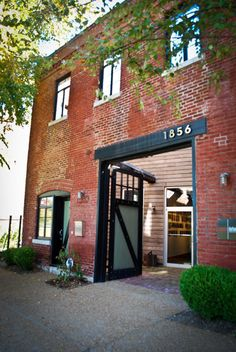 10,000 sq ft warehouse in STL (soulard) converted into a 5400 sq ft residence upstairs with space for the owner's architectural firm on the lower level. click through to see the old counter-weight elevator and awesome courtyard off the kitchen. (I love t