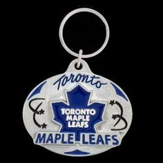Toronto Maple Leafs® Carved Metal Key Chain