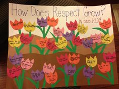 Respect lesson activity how does respect grow? Awesome Circle time project for Early Childhood classes. Modeling language and getting those beginning thinkers on the right road to manners.
