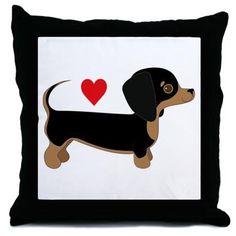 Dachshund Love Throw Pillow on CafePress.com