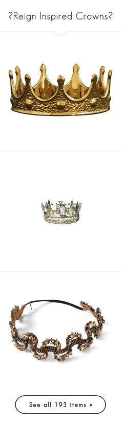 """""""♚Reign Inspired Crowns♚"""" by tvshowobsessed ❤ liked on Polyvore featuring Inspired, crown, Reign, jewelry, tiaras, accessories, hats, filler, home and home decor"""