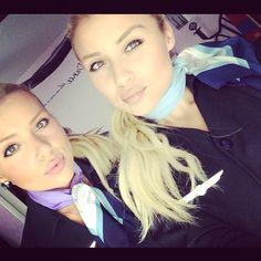 Air Transat Twin Sister Stewardesses @mellissa__