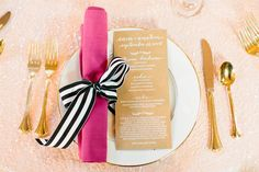 pink, white, black, and gold | Love, The Nelsons #wedding