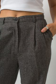 8f0eea751ed038 Sale Women's slacks vintage EIGHTIES pants high waist slacks 80s pants size  8 pants HOUNDSTOOTH prin