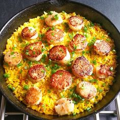Healthy Scallop Paella Recipe