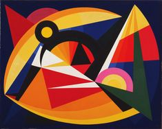 "Auguste Herbin. Synchromy in Dark Blue. 1941. Oil on canvas. 27 7/8 x 36"" (70.8 x 91.5 cm). The Riklis Collection of McCrory Corporation. 1023.1983. © 2016 Artists Rights Society (ARS), New York / ADAGP, Paris. Painting and Sculpture"