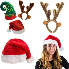 37578b7ca444c Funny Party Hats Christmas Hats - Santa Hat Elf Hat Coil Santa Hat  fashion   clothing  shoes  accessories  costumesreenactmenttheater  accessories  (ebay ...