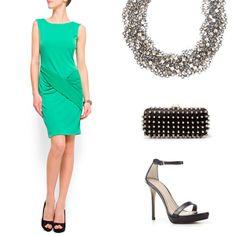 vestido verde boda