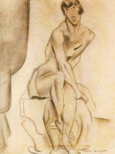 Nu feminino sentado, 1916 / Anita Malfatti