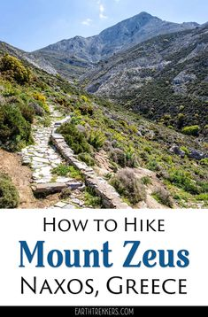 Mount Zeus, also called Mount Zas, is located on the island of Naxos and it is the highest point in the Cyclades. Here is how to hike to the summit. #naxos #greece #hiking #adventuretravel