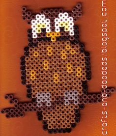 Owl perler beads by Leah's crafts and doodads