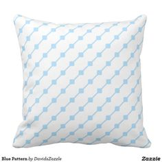 Blue Pattern Throw Pillow   Available on many more products! Type in the name of this design in the search bar on my Zazzle products page!   #abstract #art #pattern #design #color #home #decor #accessory #accent #zazzle #buy #sale #decorate #apartment #house #student #college #living #modern #chic #contemporary #style #life #lifestyle #minimal #simple #plain #minimalism #square #line #white #blue