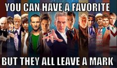 Chris is particularly special to me because he was my first Doctor, but I honestly adore every incarnation I have seen. It's still the Doctor.
