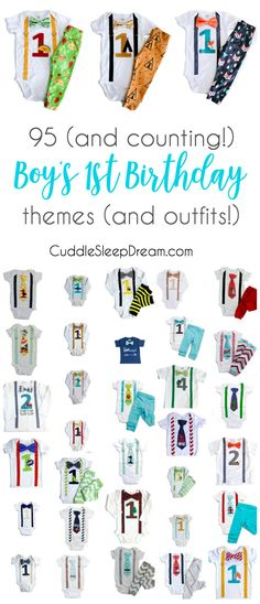 boys 1st birthday ideas, outfits, cake smash, birthday themes