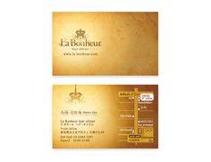 La bonheur_Name Card   Beauty salon graphic design ideas   Follow us on https://www.facebook.com/TracksGroup    美容室 名刺 カード デザイン