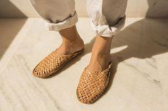 Kolhapuri Leather Slides | www.abacastore.com #abacastore #handmade | Photo by @gericcruz