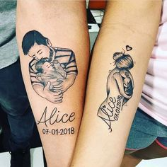 60 Meaningful Unique Match Couple Tattoo Ideas - Matching Up . - 60 Meaningful Unique Match Couples Tattoo Ideas – Matching Couples Tattoo Ideas, Couples Tattoo I - Mutterschaft Tattoos, Mama Tattoos, Mom Dad Tattoos, Father Tattoos, Family Tattoos, Tattoos For Daughters, Body Art Tattoos, Sleeve Tattoos, Tatoos