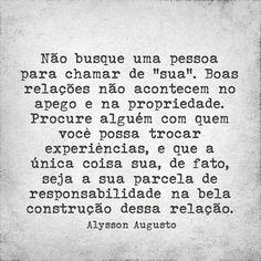 Não busque uma pessoa