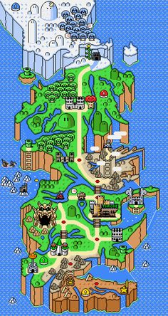 """Game of Mushroom Kingdoms"" A Song of Ice and Fire/Super-Mario Mash-up map (via Flavorwire from Reddit user titan14)"
