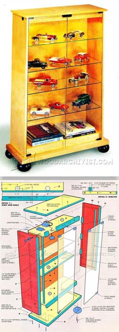 Lighted Display Cabinet Plans - Furniture Plans and Projects | WoodArchivist.com