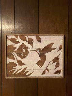 "Wood Wall Art Decor reclaimed wood wall art, abstract painting, ""splintered heart"