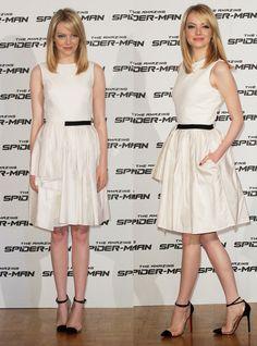 Emma Stone - vestido Jason Wu + sapatos Un bout de Christian Louboutin