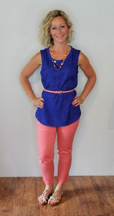 Love the top, necklace, pants, and belt Turquoise Necklace Outfit, Teaching Outfits, Teaching Clothes, Clothing Subscription Boxes, Stitch Fix Outfits, Outfit Goals, Outfit Ideas, Stitch Fix Stylist, Colored Pants