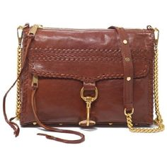 Whipstitch M.A.C. Clutch ($330) ❤ liked on Polyvore featuring bags, handbags, clutches, purses, bolsas, accessories, rebecca minkoff handbags, brown leather handbag, leather handbag purse and rebecca minkoff purse