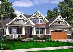 Front or Side Garage - You Choose - 23375JD | Bungalow, Craftsman, Northwest, Photo Gallery, 1st Floor Master Suite, CAD Available, Den-Office-Library-Study, MBR Sitting Area, PDF | Architectural Designs