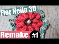 "Flor de crochê - Flor Neila 3D - Remake #1 ""Soraia Bogossian"" - YouTube"