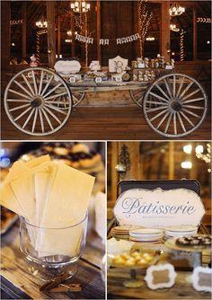 Vintage wedding dessert table #weddingideas #weddingdecor #desserttable #dessertbar #vintagewedding