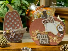 Pumpkin Potpourri Gift Set by Brigit Mann.using cutting files and Echo Park Fall Refections papers designed by Lori Whitlock.