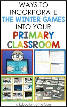 Ways to Incorporate the Winter Games into your Primary Classroom Social Studies Activities, Teaching Social Studies, Writing Activities, Kids Olympics, Winter Olympics, Special Education Classroom, Primary Classroom, Classroom Ideas, Olympic Idea