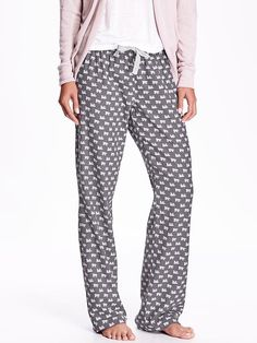 Printed Flannel PJ Bottoms -- medium   **want the whole outfit