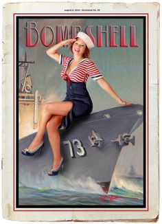 Bombshell Kelly saluting the Navy by Bombshell Pin-up Productions, via Flickr
