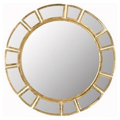 Imogen Sunburst Wall Mirror, Gold