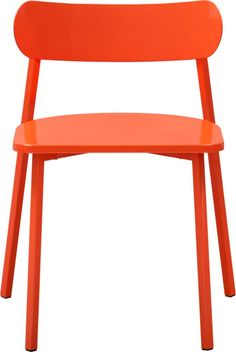 fleet hot orange chair (desk chair) CB2 $126.00 reg. $149.00