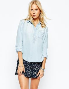 ASOS - Abercrombie & Fitch Denim Popover Shirt ($87.00)