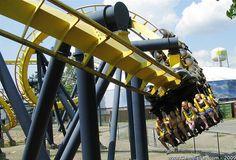 Batman the Ride at Six Flags Great Adventure in Jackson, NJ Six Flags Great Adventure, Greatest Adventure, Amusement Park Rides, Roller Coasters, Golden Gate Bridge, Fighter Jets, Jackson, Childhood, Batman